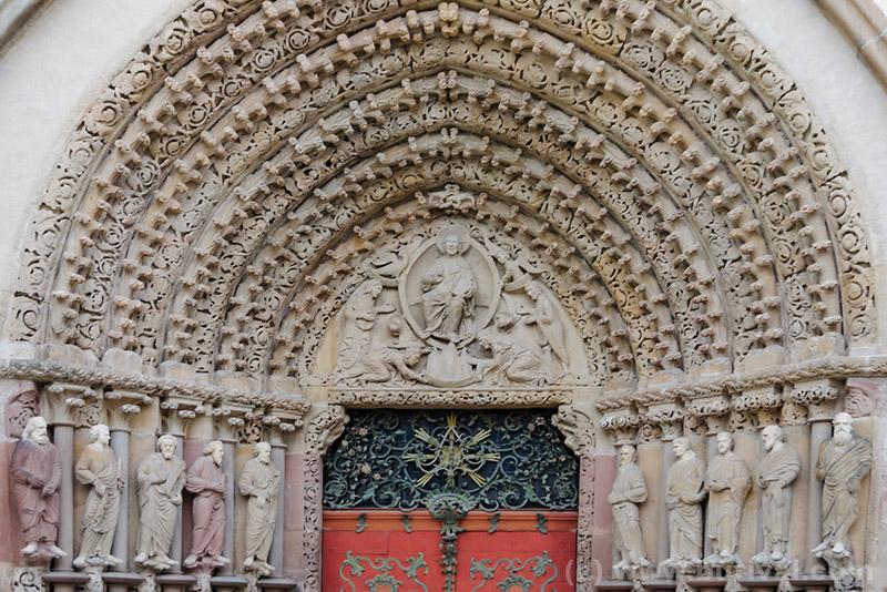 gothic portal of the church gate