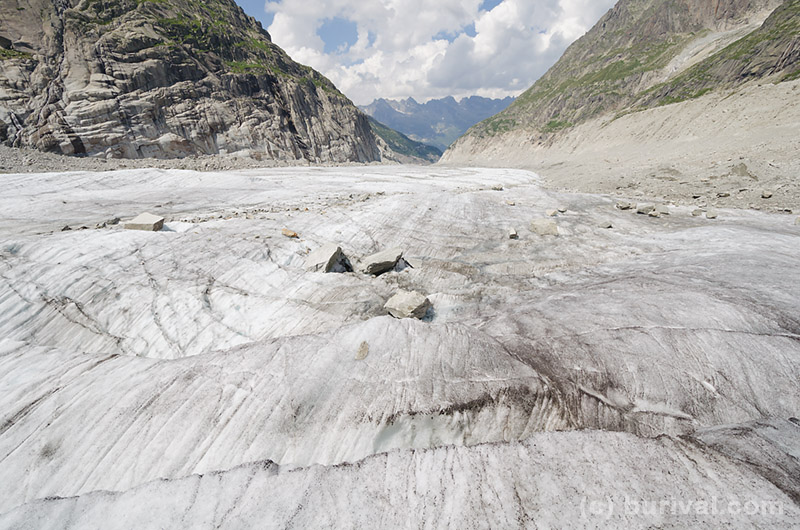 glacier in the french alps