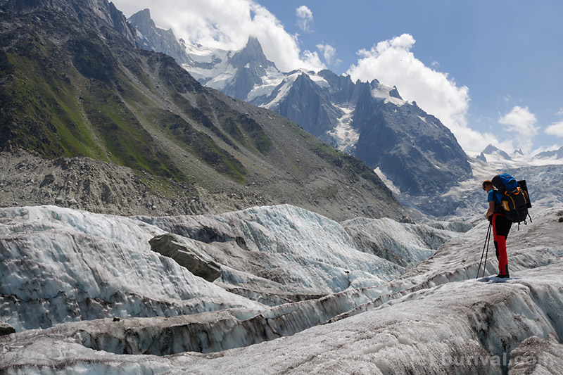 glacier in the mont blanc massif