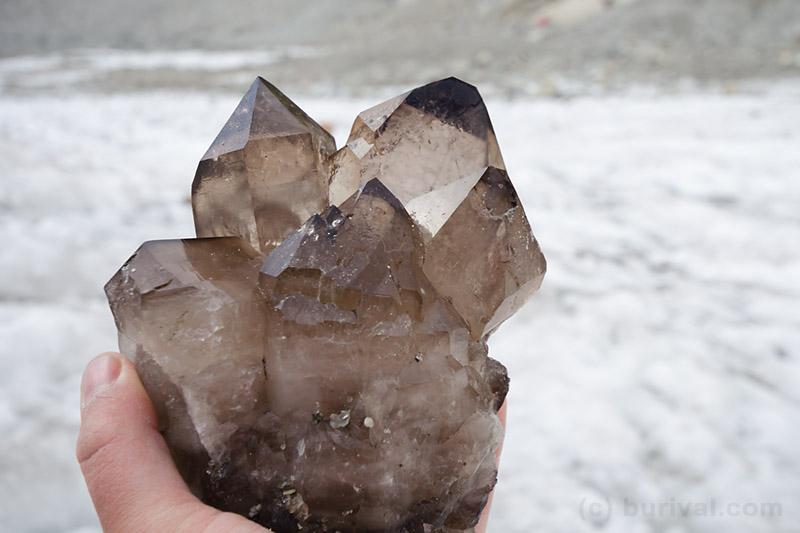 smoky quartz cluster