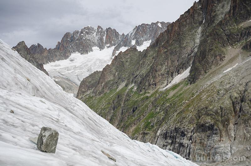 steep glacier and peaks